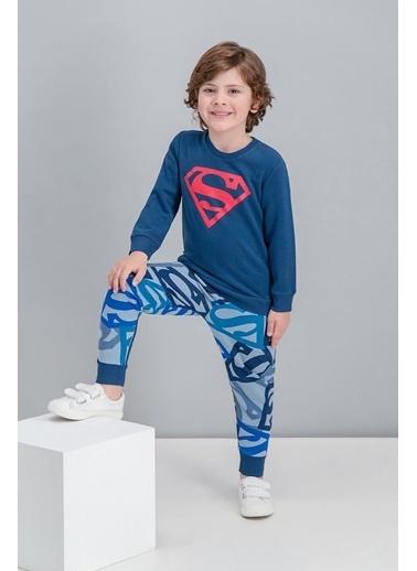 Superman Superman Lisanslı Lacivert Erkek Çocuk Eşofman Takımı Lacivert